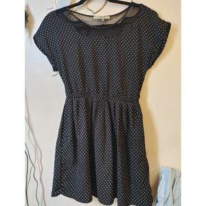 Bordeaux Los Angeles black polka dot mini dress